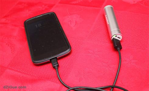 Batterie Avantree sur Nexus 4
