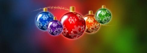 Fond d'écran Boules de Noël Freebox Révolution