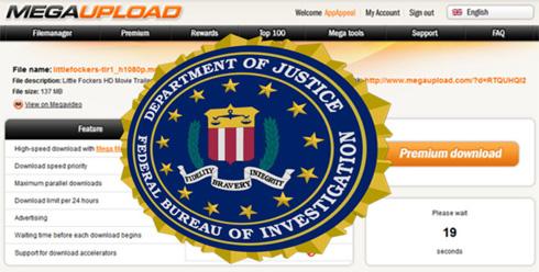 Megaupload fermé par le FBI