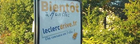 Panneau Leclerc Drive Aurillac
