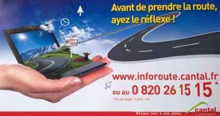 InfoRoute.Cantal.fr : L'état des routes du Cantal en ligne !