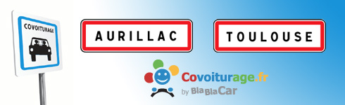 Covoiturage Aurillac Toulouse