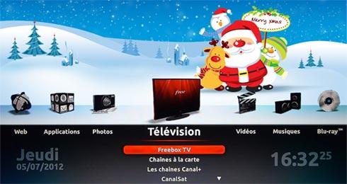 Fond d'écran spécial Noël pour Freebox