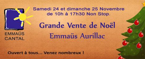 Grande vente de Noël Emmaüs Cantal
