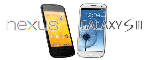 Le choix : Nexus 4 ou Galaxy S3 ?