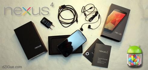 A la découverte de mon Google Nexus 4…