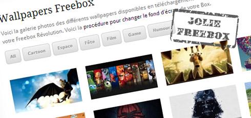 Jolis fonds d'écran pour votre Freebox