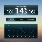 Application Anywhere Weather Historique