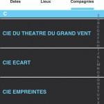 Appli festival Aurillac compagnies