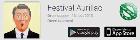 L'application mobile du festival d'Aurillac