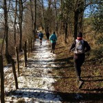 Trail dans la neige