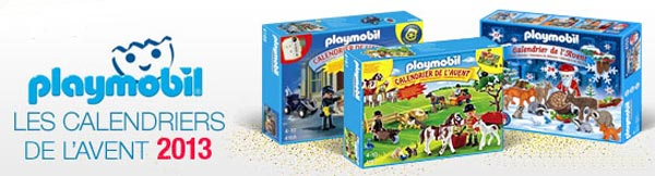 calendriers de l 39 avent 2013 lego playmobil th caf. Black Bedroom Furniture Sets. Home Design Ideas