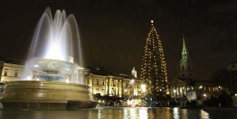 Sapin Noël Trafalgar Square