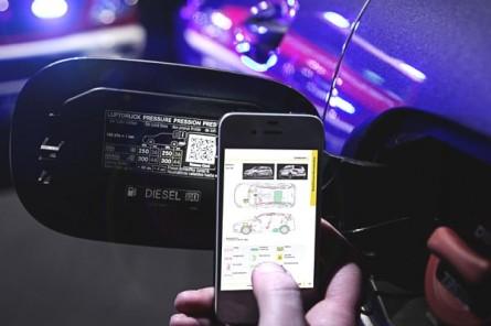 Des QR codes dans les Mercedes pour vous sauver la vie