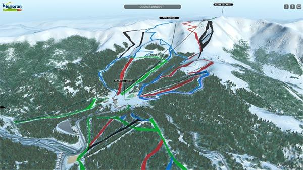 Pistes de ski du Lioran en 3D