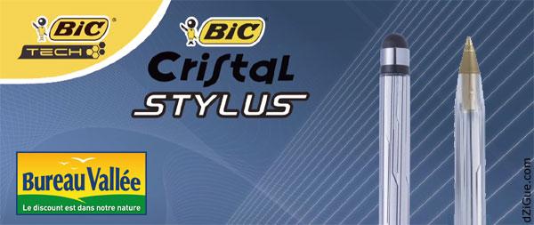 Stylo BIC Cristal Stylus