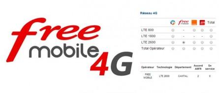 La 4G Free Mobile dans le Cantal !