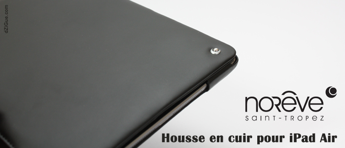 House cuir Noreve pour iPad Air