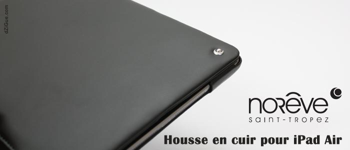 House cuir Noreve pour iPad Air