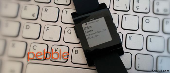 Pebble, montre connectée