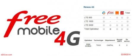 Encore plus de 4G Free Mobile dans le Cantal