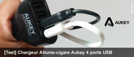 Le chargeur allume-cigare USB intelligent d'Aukey