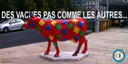 De drôles de vaches dans les rues d'Aurillac !