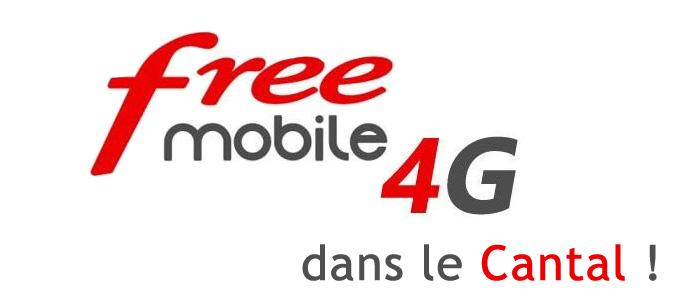 4G Free Mobile dans le Cantal