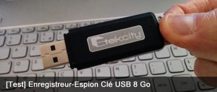 Dictaphone Enregistreur-Espion Clé USB 8 Go