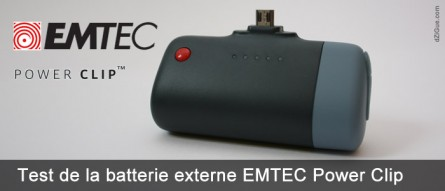 Power Clip, la batterie externe d'EMTEC