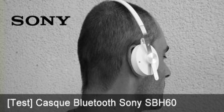 Test du casque Bluetooth Sony SBH60