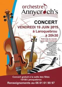 Concert orchestre Cantal