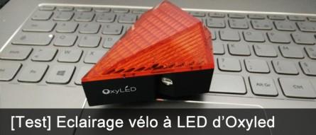 Eclairage arrière vélo laser OxyLED