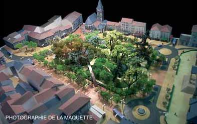 Maquette square Aurillac