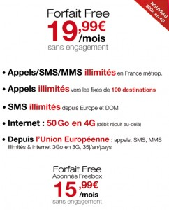 Free Mobile 50Go 4G
