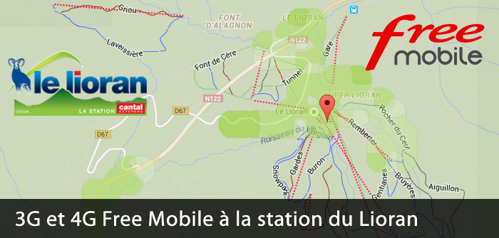 3G et 4G Free au Lioran