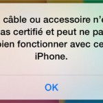 Cable iPhone non certifié Apple