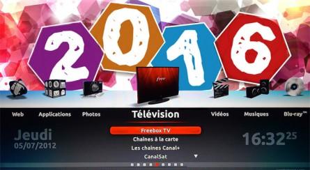 Fonds d'écran Freebox pour la nouvelle année