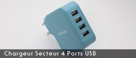 Chargeur Secteur 4 Ports USB CARCHET