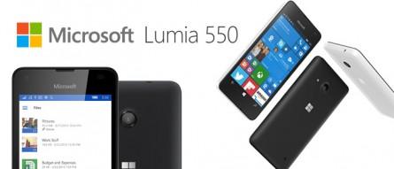 Microsoft Lumia 550 pour débuter avec Windows 10 Mobile
