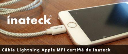Câble Lightning Apple MFI certifié de Inateck