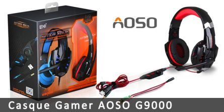 Casque gamer Aoso G9000