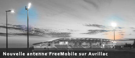 Nouvelle antenne Free Mobile sur Aurillac