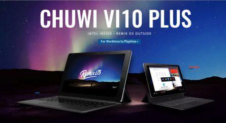 Chuwi Vi10 Plus, tablette hybride sous Windows 10 et Remix OS
