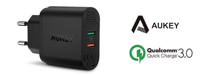 Chargeur secteur USB Aukey