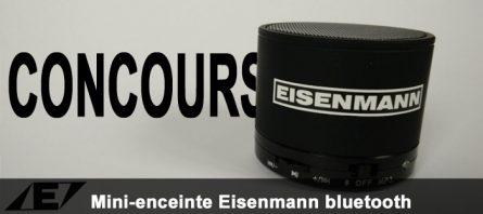 [Concours] Mini-enceinte Eisenmann bluetooth à gagner