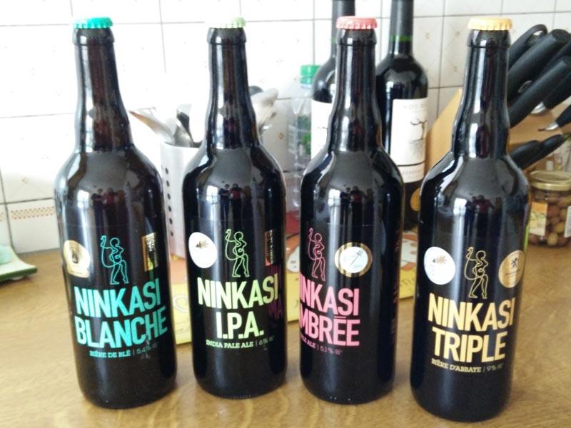 Bière Ninkasi Blanche, IPA, Triple et Ambrée