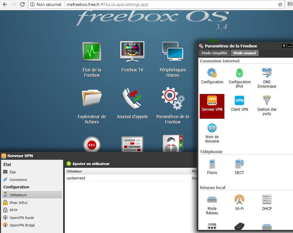 Config VPN serveur Freebox