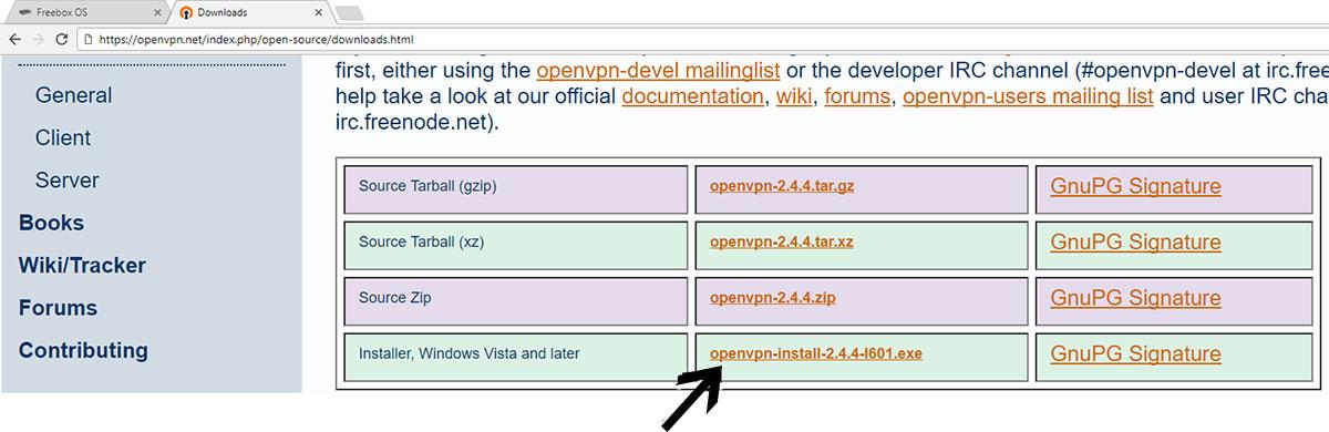 Télécharger OpenVPN