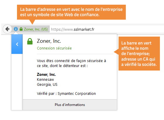 Certificat SSL EV pas cher